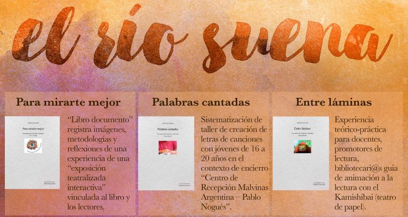 """Colección libros """"El Río Suena"""", sobre Arte e Intervención Social"""