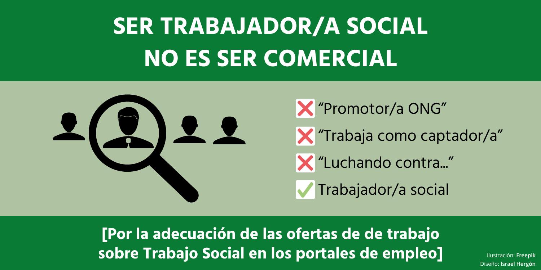 Cartel por la mejora de las ofertas de empleo de Trabajo Social