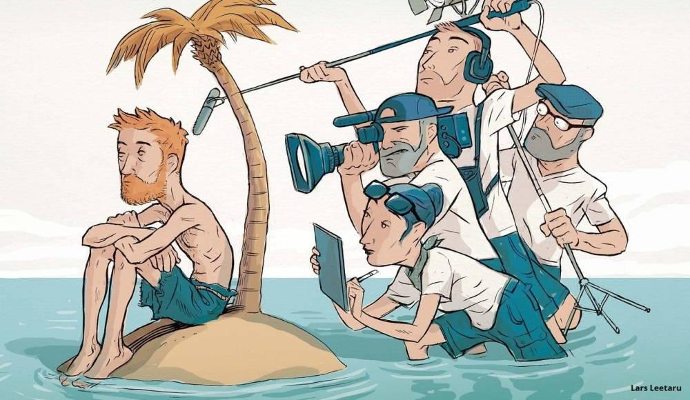 "Ilustración Lars Leetaru ""Reality show"""