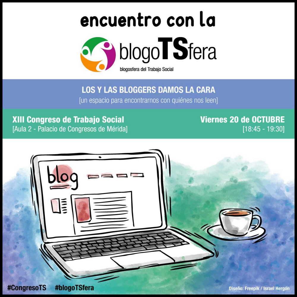 Cartel Encuentro con la BlogoTSfera #CongresoTS