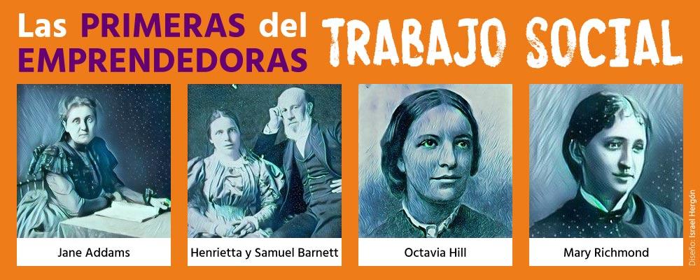 """Infografía """"Primeras emprendedoras del Trabajo Social"""""""