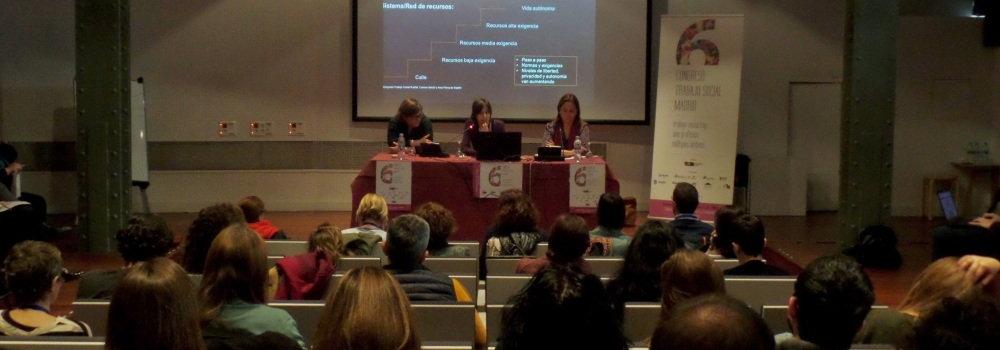 Mesa comunicaciones 6º Congreso Trabajo Social Madrid (2016)