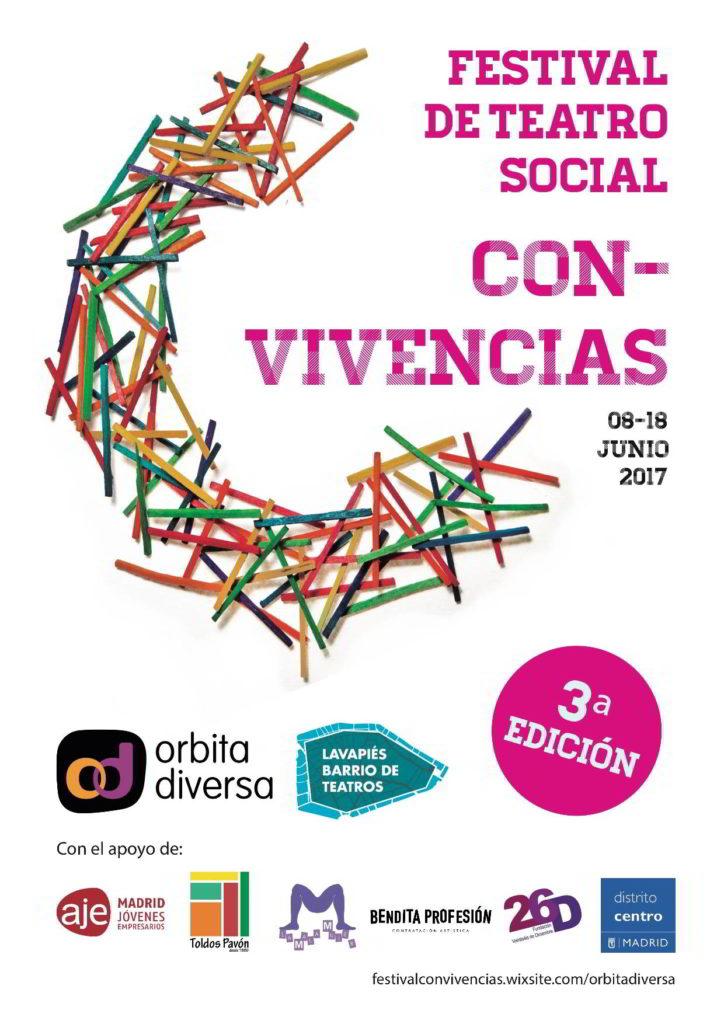 Cartel III Festival de Teatro Social Con-Vivencias