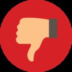 dislike - aspectos negativos
