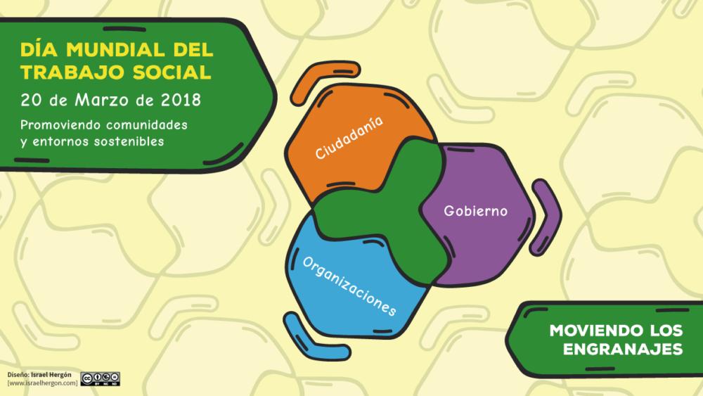 Cartel Día Mundial del Trabajo Social 2018 - Diseño: Israel Hergón