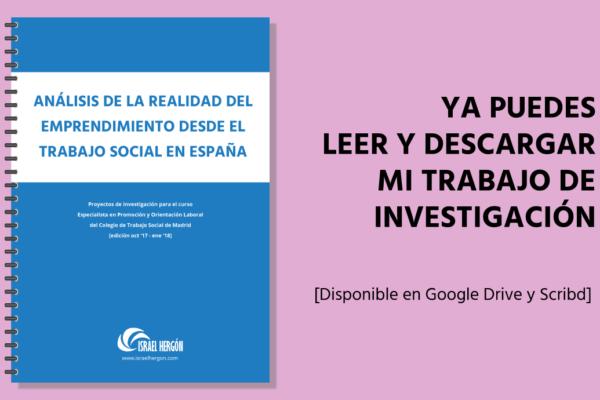 Descarga trabajo investigación Emprendimiento desde el Trabajo Social en España