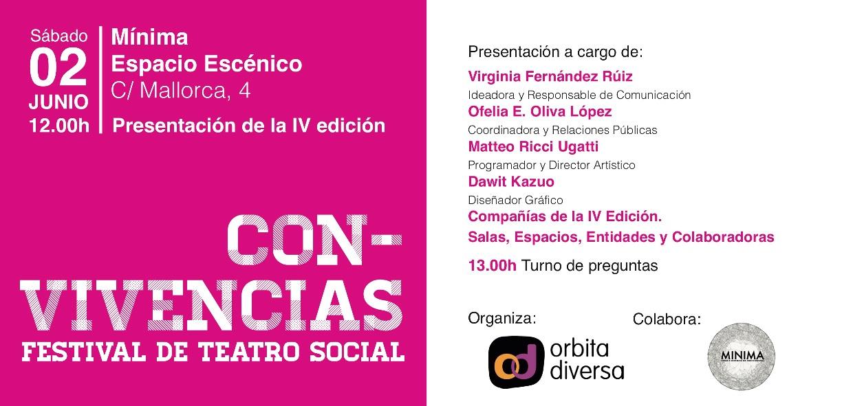 Invitación presentación IV Festival Con-Vivencias