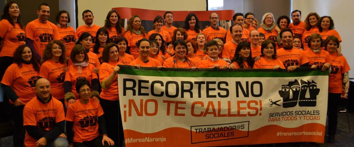 Declaración Colegios y Consejo de Trabajo Social por el compromiso con la Marea Naranja