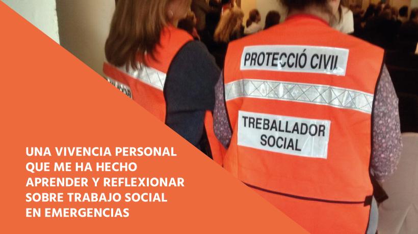 Equipo Colegio TS Catalunya de Trabajo Social en emergencias
