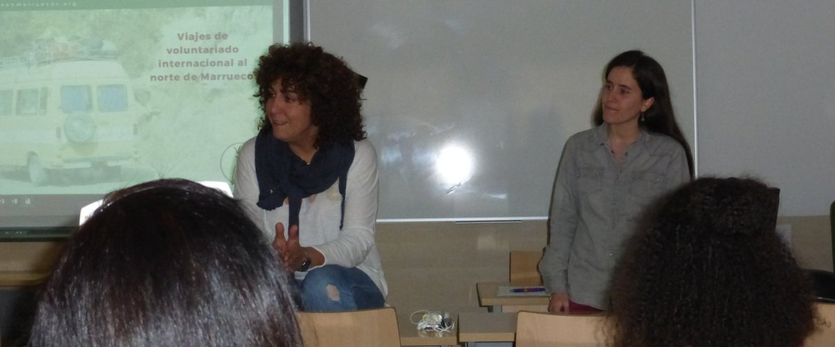 """Diana Martínez sesión informativa """"Voluntariado en Marruecos"""