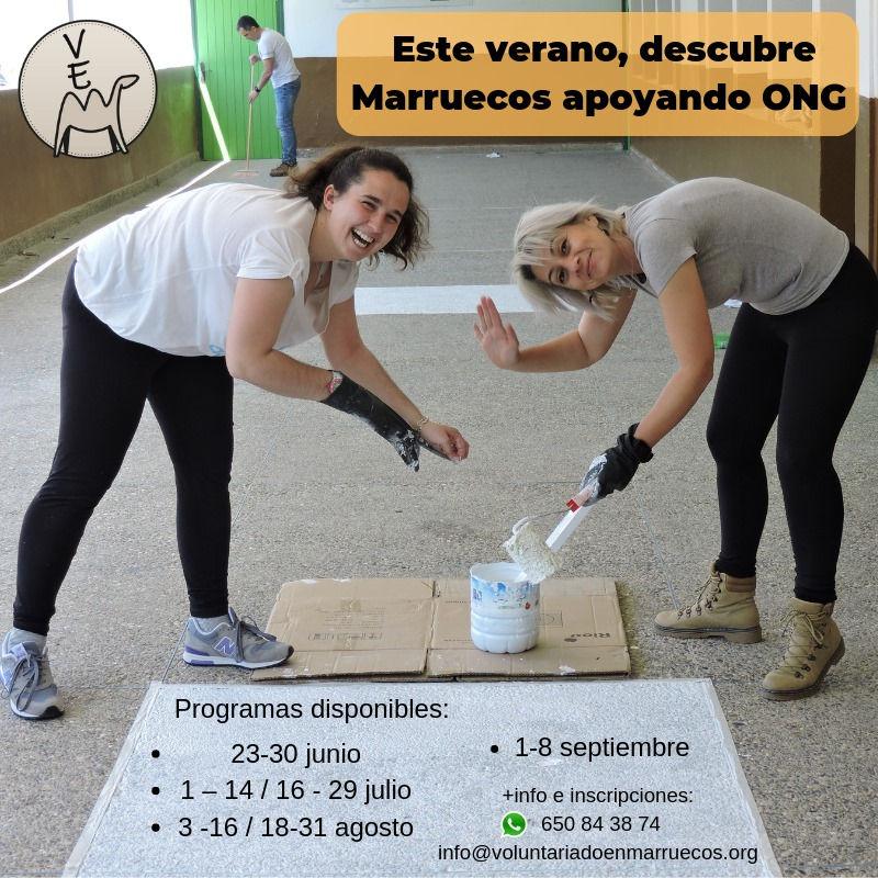"""Programas verano 2019 """"Voluntariado en Marruecos"""""""